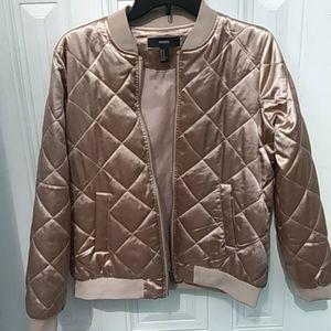 Silky gold puffer jacket